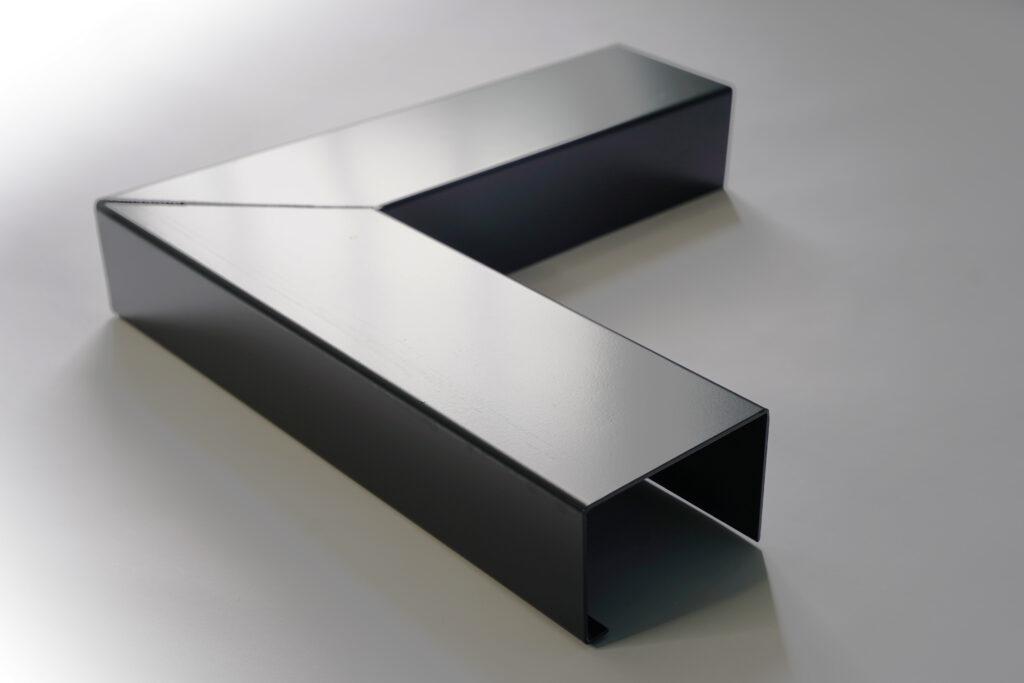 Isolated aluminium guttering image