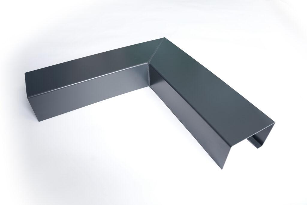 Image of isolated aluminium guttering