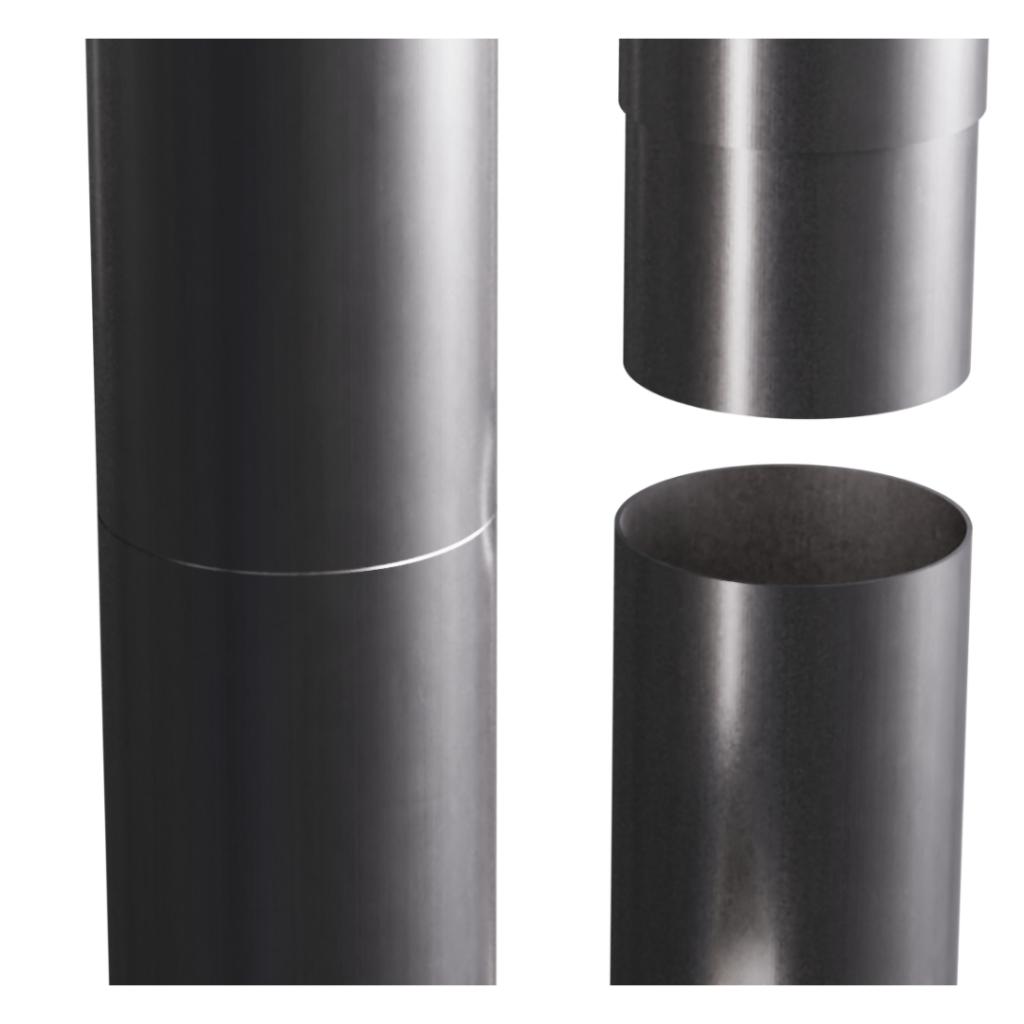 Aluminium-Smoothline-Round-Downpipe