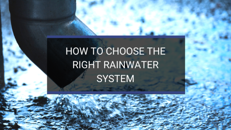 how to choose the right rainwater system